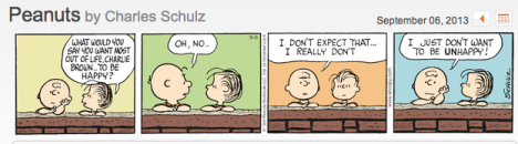 Peanuts - Just not UNHappy