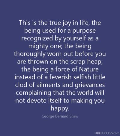 shaw-purpose